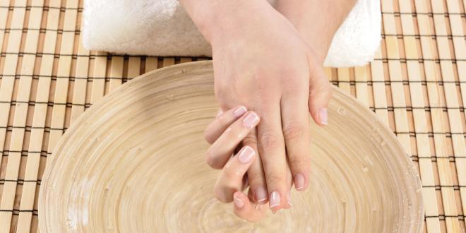 Dry winter hands.
