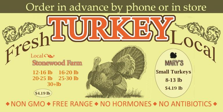Order your thanksgiving turkey now